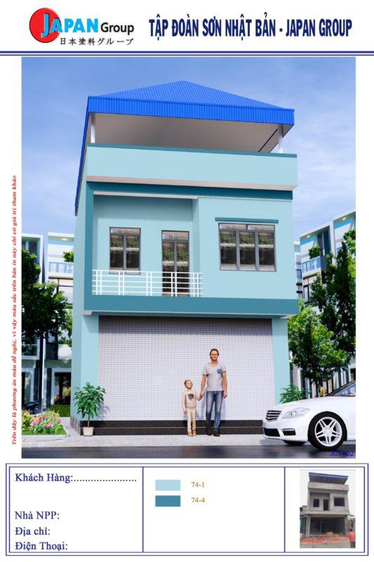 Sơn Nhà Đẹp Jicapaint blue