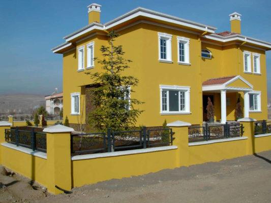 Màu vàng sơn nhà ngoài trời đẹp